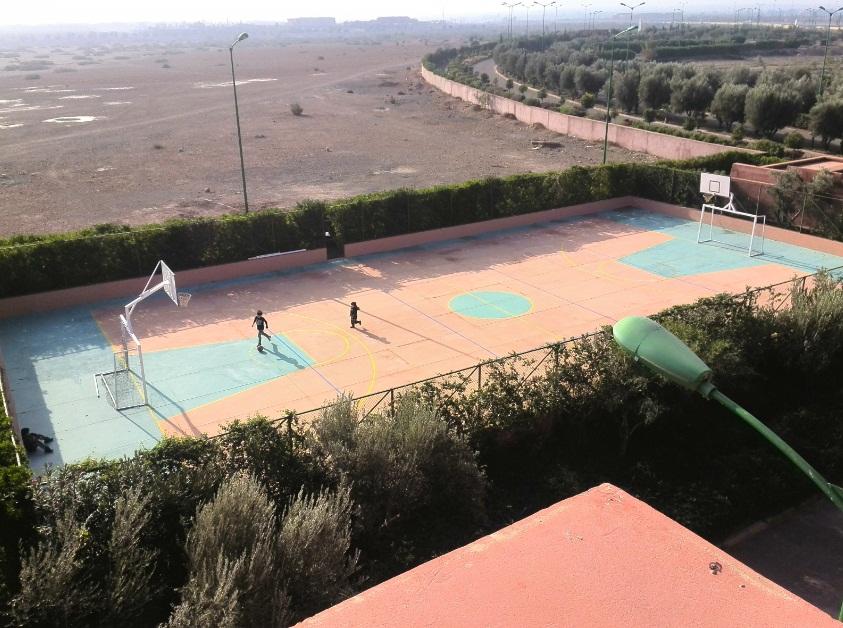 Fußball und Basketball Marrakesch